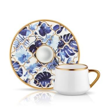 Koleksiyon Sufi Türk Kahvesi Seti 6'Lı Amazon Mavi Mavi